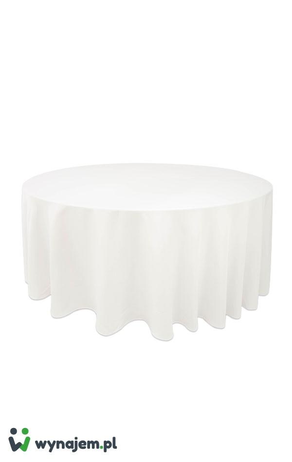 Wynajem Obrus biały (okrągły)