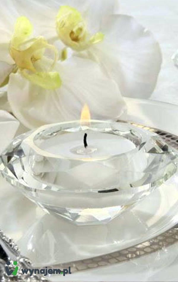 T-light szklany (kryształ)
