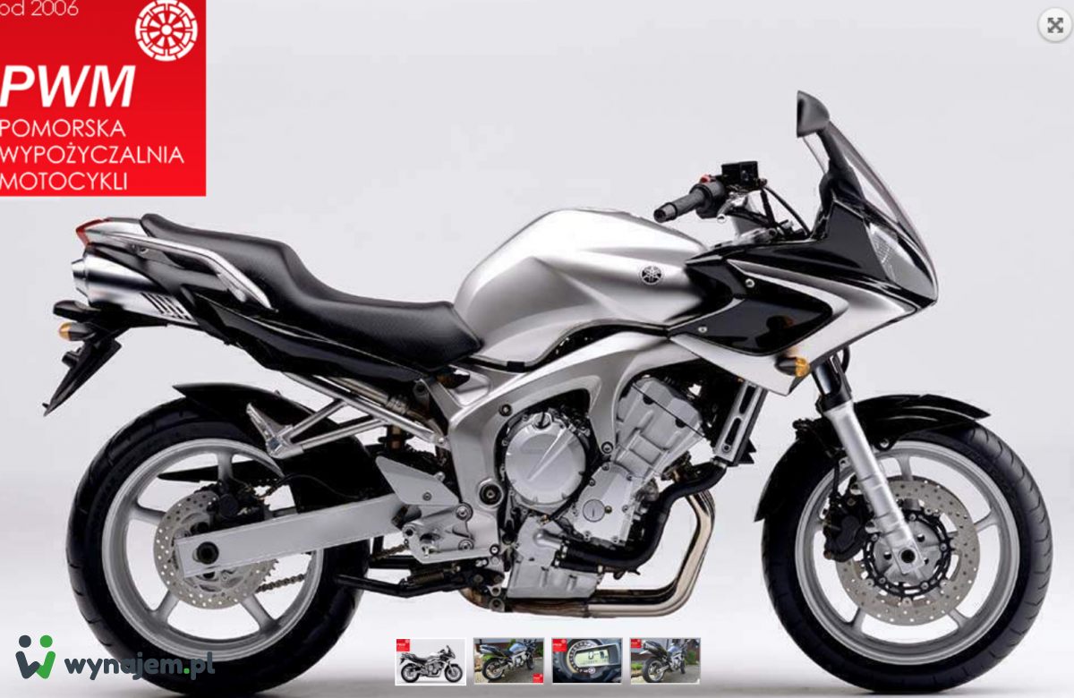 Wynajem Yamaha FZ6 Fazer S2