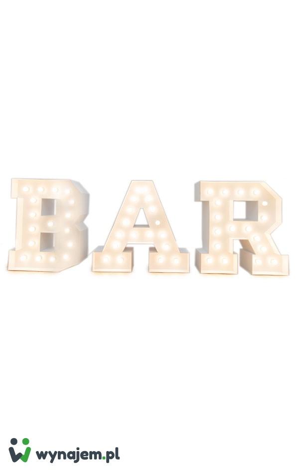 Świetlny napis BAR