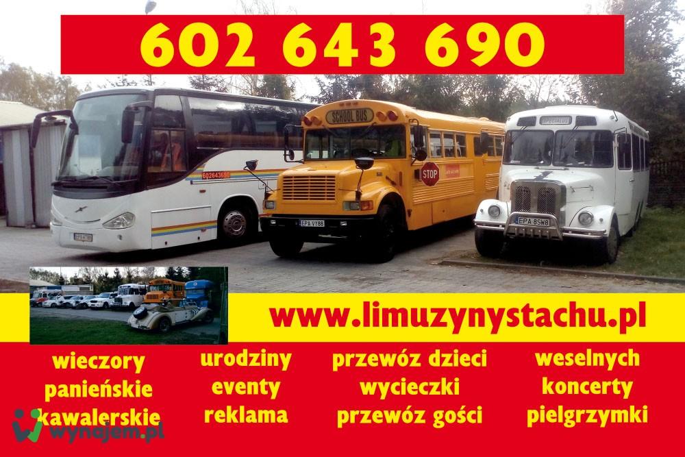 limuzyna do ślubu school bus party bus  wynajem limuzyn łódź wieczór panieński