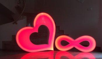 Serce LED nieskończoność 1 - 8 wynajem wesele urodziny sesje
